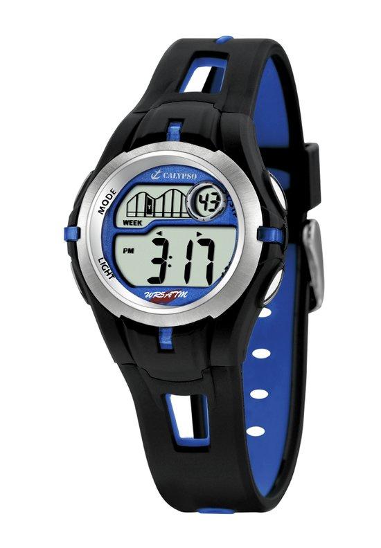 Calypso K5506/3 digitaal tiener horloge 34 mm 100 meter zwart/ blauw