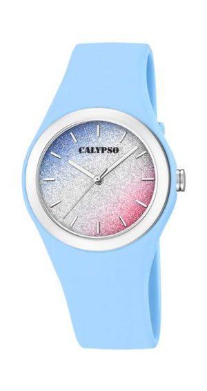 Calypso K5754/4 analoog tiener horloge 34 mm 50 meter blauw