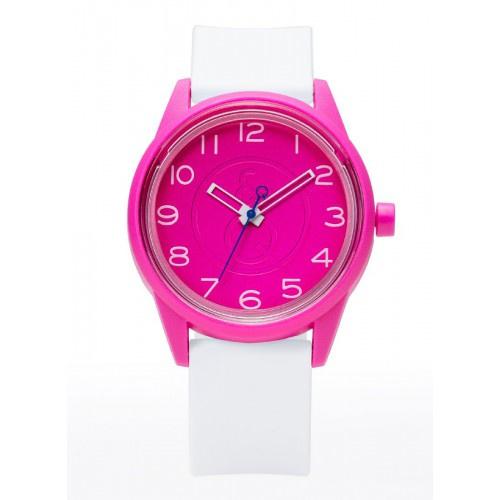 Q&Q RP00J047 Smile Solar tiener horloge 40 mm 50 meter roze/ wit