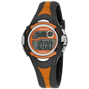 Nowley 8-6145-0-3 digitaal tiener horloge 36 mm 100 meter zwart/ oranje