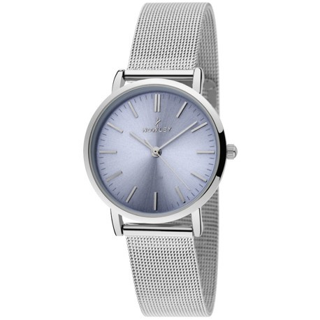 Nowley 8-5825-0-6 analoog tiener horloge 32 mm 30 meter grijs/ lila