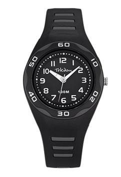 Tekday 653493 analoog tiener horloge 34 mm 100 meter zwart/ grijs