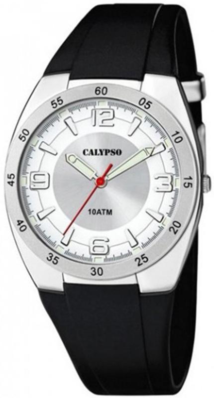 Calypso K5753/1 analoog tiener horloge 40 mm 100 meter zwart/ wit