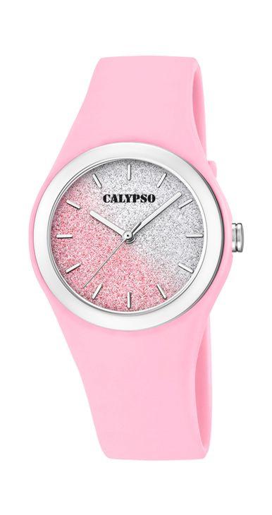 Calypso K5754/3 analoog tiener horloge 34 mm 50 meter roze