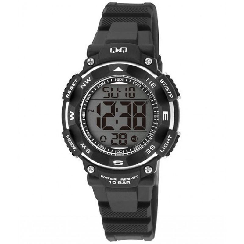 Q&Q M149J002 digitaal tiener horloge 36 mm 100 meter zwart