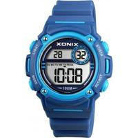 Xonix BAE-002 digitaal tiener horloge 38 mm 100 meter blauw