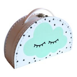 Koffertje halfrond Cloud Mint