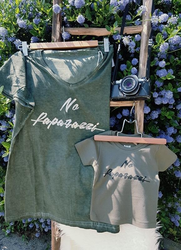 "Dames T-Shirt ""No Paparazzi""graden"