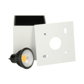 Opbouwspot Leos GU10 + LED dimbaar - wit