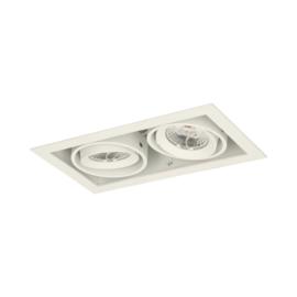 LED Square +Trim inbouwspot 2-lichts (gratis driver) - Wit