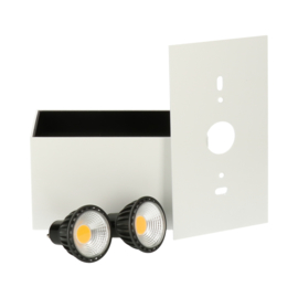 Opbouwspot Leos Twin GU10 + LED dimbaar - wit
