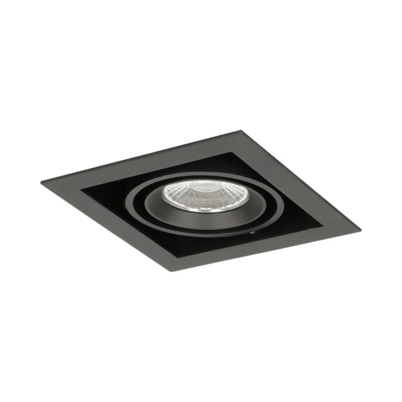 LED Square +Trim inbouwspot (gratis driver) - Zwart