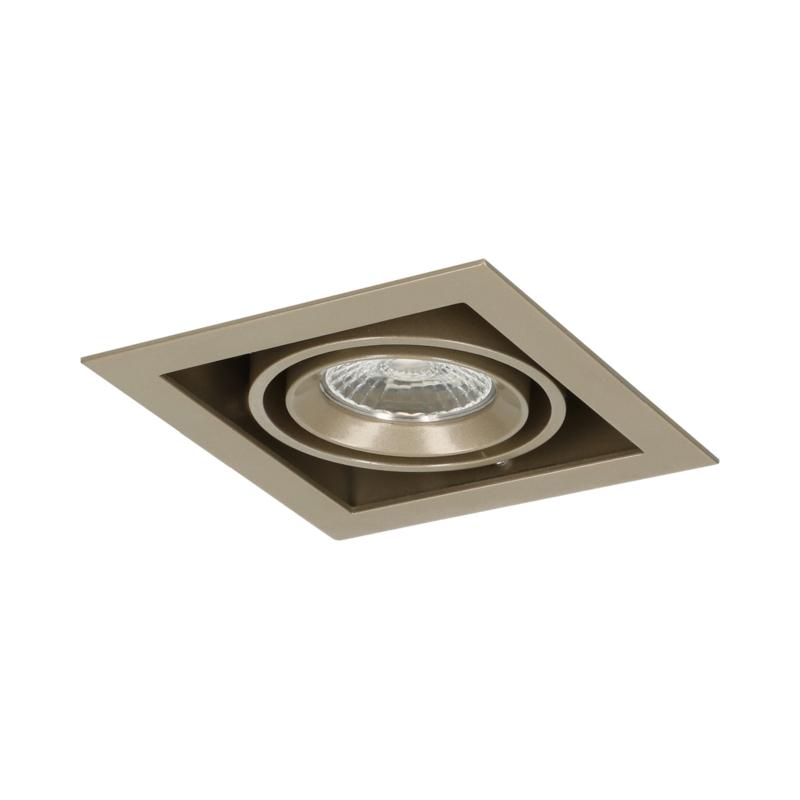 LED Square +Trim inbouwspot (gratis driver) - Pearl Grey