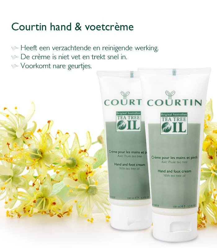 Courtin hand/voetcreme 100 ml tea tree olie
