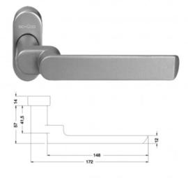 Schuco deurkruk  - verstek - kleuren: 240156 aluminium / 240157  zwart 9005 / 240158 wit 9010 /  240159 wit 9016 /  240169 INOX