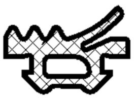 Schuco vliesgeveldichting 3 mm 204533 - per m1