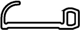 Schüco rubber 278231 - per m1  OP = OP