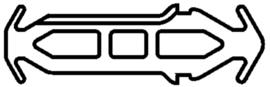 Schüco rubber 244508 - per m1