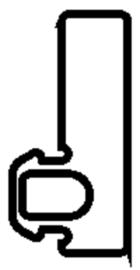 Schüco rubber 224938 - per m1