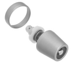 Schuco insteekhuis - knop 247858 / 234030 aluminium