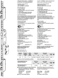 Schuco antipaniek meerpuntslot Safematic  bi kruk / bui knop  241369 / 241370