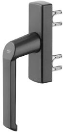 Schuco raamgreep - kleuren: aluminium LS 214793 / aluminium RS 214794 / zwart LS 214825 / zwart RS 214824