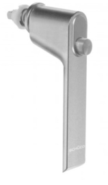 Schuco raamgreep met drukknop -  kleuren: 247289 aluminium / 247290 zwart 9005 / 247291 wit 9010 / 247292 wit 9016 / 247294 RVS