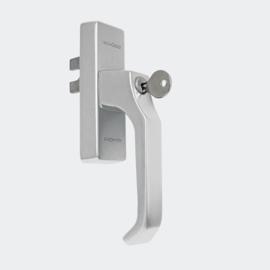 Schuco raamgreep  - afsluitbaar - kleuren: 214255 aluminium / 214256 brons