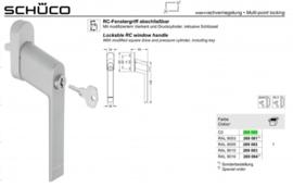 Schuco raamgreep - afsluitbaar -  269080 aluminium
