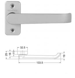 Schuco vlakke rolluik / screen deurkruk - 240799 aluminium