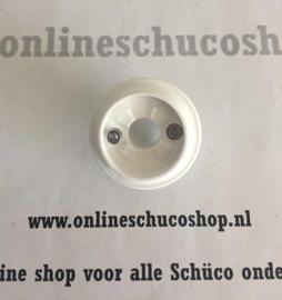 Schuco rozet t.b.v. kunststof raam - niet afsluitbaar 214903 ral 9016
