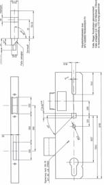 Schuco hoofdsluiting voor meerpuntsslot - 279023