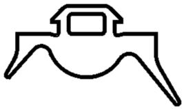Schüco rubber 204992 - per m1