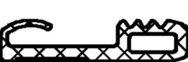 Schüco rubber 244329 - per m1