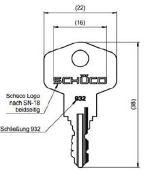 Schuco sleutel 932 / 276961