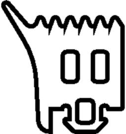 Schüco rubber 244417 - per m1