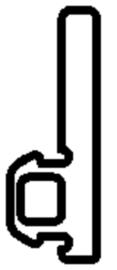 Schüco rubber 224934 - per m1