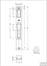 Schuco sluitplaat 209354