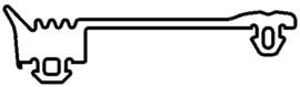 Schüco rubber 246419 - per m1