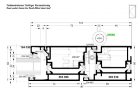 Schuco rollerband scharnier binnendraaiende deur 50 mm - 239383