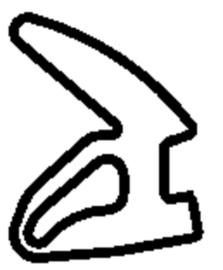 Schüco rubber 224350 - per m1