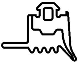 Schüco rubber 284332 - per m1