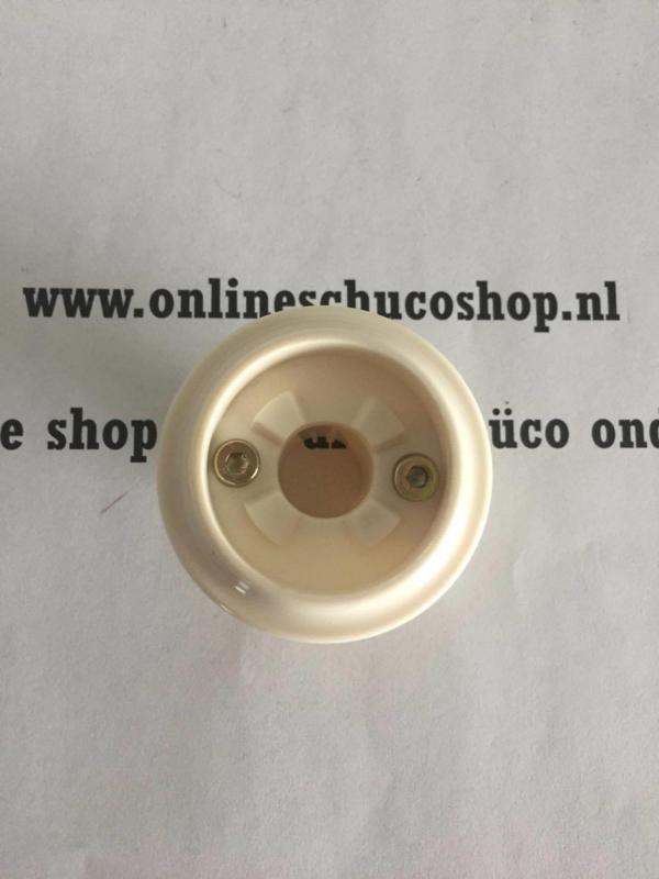 Schuco rozet t.b.v. kunststof raam - niet afsluitbaar 234175 / 98050244 ral 9001