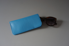 MINIMAL sunglasses cover - blue leather