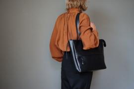tote bag - black leather