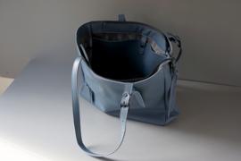 ZIP TOTE - dusty blue