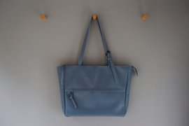ZIP TOTE - dusty blue