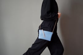 FLAT purse - dusty blue