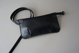 HIP POUCH - black leather