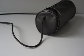 CYLINDER - black leather